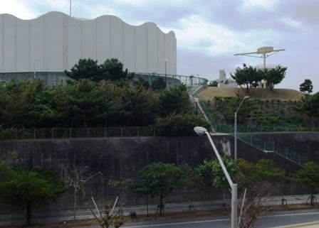 高台の排水池