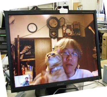 webカメラでチャットしてる画面