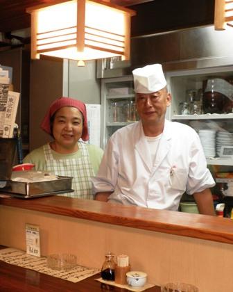 天ぷら片山の御主人と奥様