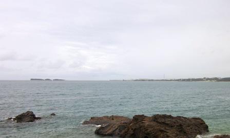 大浦湾から滑走路が計画されている辺野古崎を望む