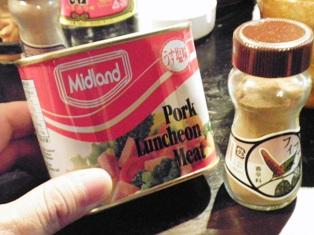 うす塩味のポーク缶