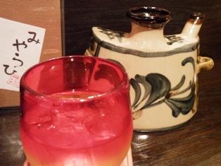 琉球ガラスのコップと抱瓶