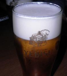 ゑビスの生ビール