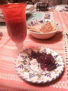 食べた後の葡萄