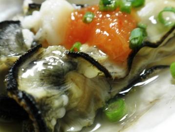 ちょっとだけ炙った牡蠣